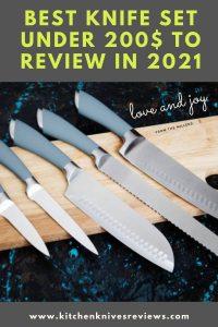 best knife set under 200$-Pinterest