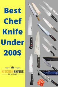 best chef knife under 200$ -PInterest